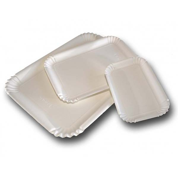Vassoi in Cartone Bianco politenato per Pasticceria cm 16x23 pz 125 kg 5