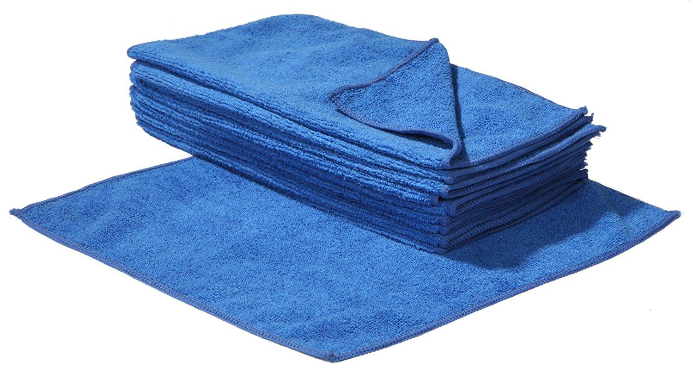 10 Panni In Microfibra 30 X 30 Cm Colore Blu Effe2cart